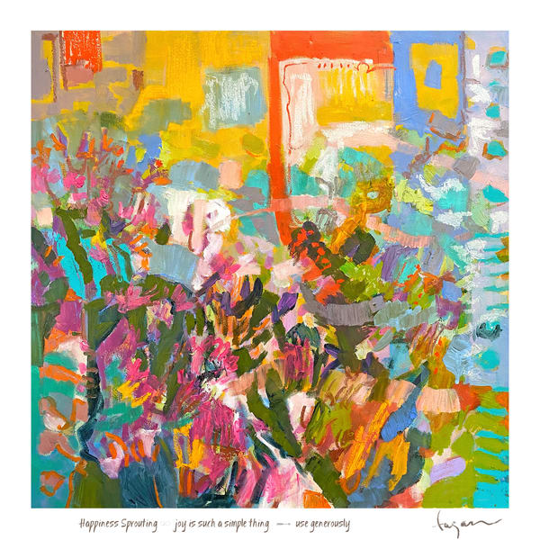 Sprouting Haiku  Print Art | Dorothy Fagan Joy's Garden