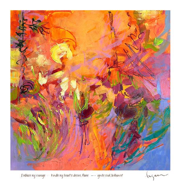 Emblaze Me Haiku Print Art | Dorothy Fagan Joy's Garden