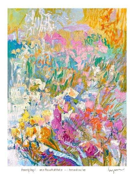 Heavenly Day Haiku Print Art | Dorothy Fagan Joy's Garden