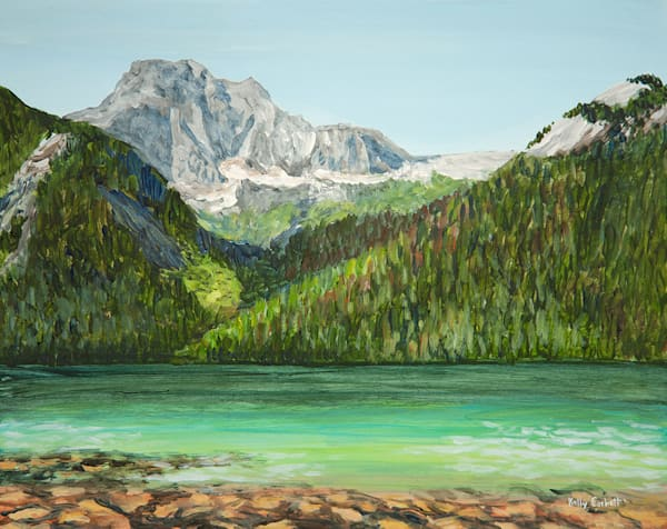 Chilliwack Lake, 8x10, acrylic on board, plein air painting