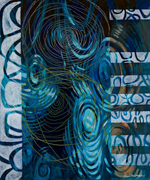 """""""In The Spirit"""" Contemporary Abstract in Blue Color Palette, Buy Now."""