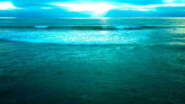 Surfers At Dusk Art   Norlynne Coar Fine Art