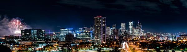 Denver at Night Panorama
