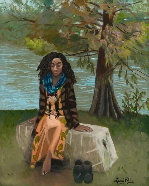 """Lady In The Park  Morgan Falls Park ""Ju Ne"" Art | Digital Arts Studio / Fine Art Marketplace"