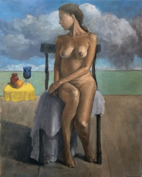 Nude With Floating Still Life Art   michaelwilson