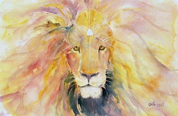 lions gate watercolor painting