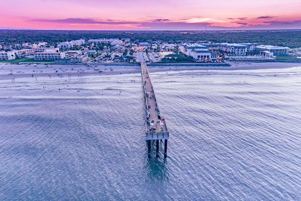St. Augustine Pier Sunset Photography Art | kramkranphoto