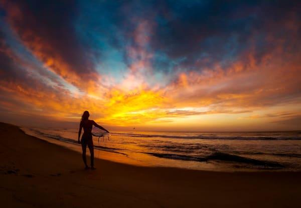 Sunrise Surf Award Winning Limited Edition  Photography Art | Silver Sun Photography