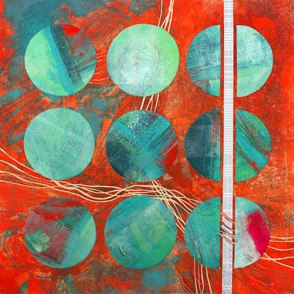 Measuring Balls - Original Abstract Painting | Cynthia Coldren Fine Art