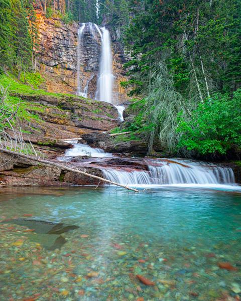 Gnp Virginia Falls Photography Art | John Martell Photography