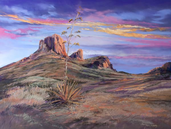 Lindy Cook Severns Art   Desert Brushed With Gold, print