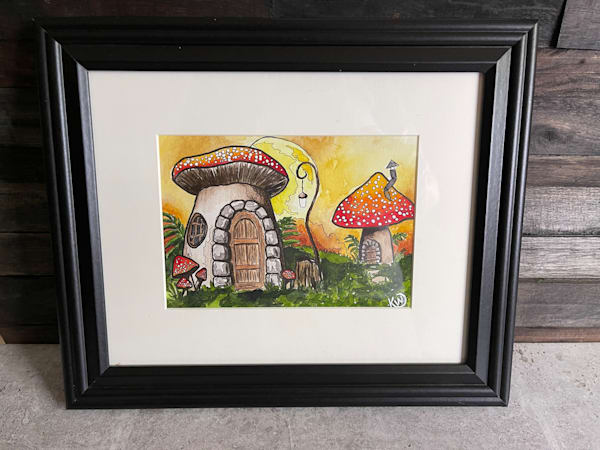 Fairy Mushroom House 1 Art   Water+Ink Studios
