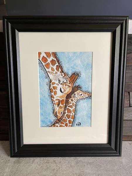 Giraffe Mom Art | Water+Ink Studios