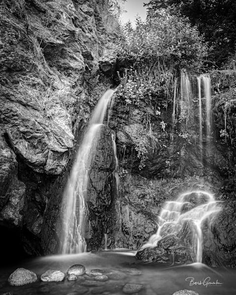 Secretbeachwaterfallbw Photography Art | Barb Gonzalez Photography