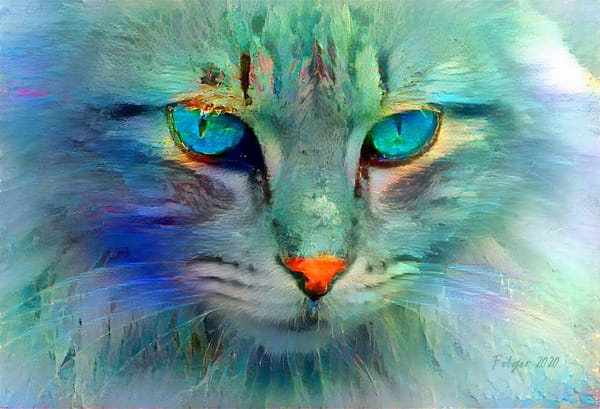 Feline Pastel Art | Jacob Folger Artist