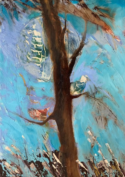 Birds At Moonrise.Lg Art | V Creative Studio