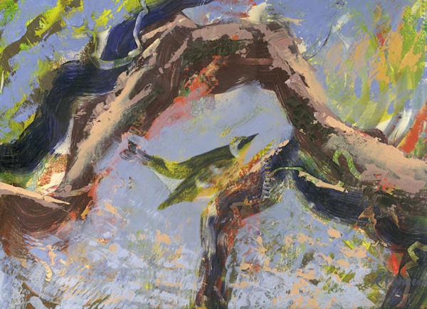 Tanager On Branch Art | V Creative Studio