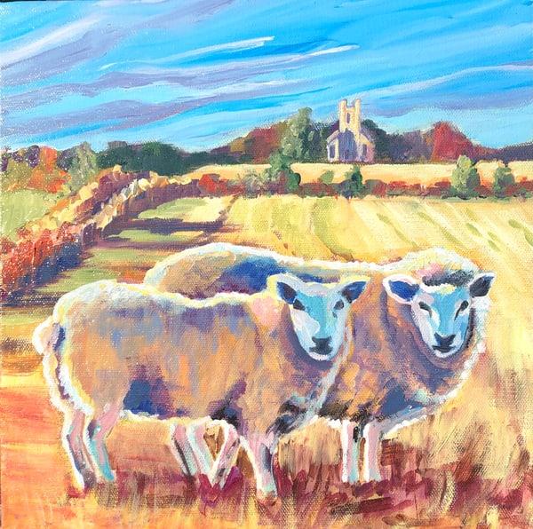 Sheep At Parrandier Art | Sophie Dare Designs
