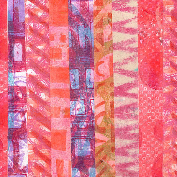 Pink Stripes Art   Jennifer Akkermans