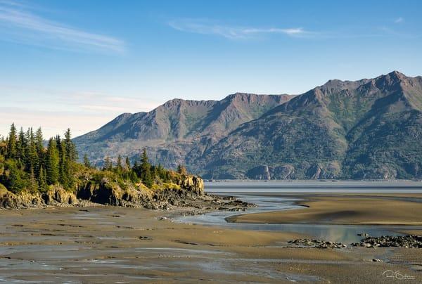 Mudflats at low tide