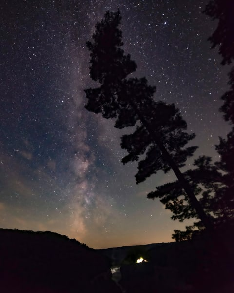 Milky Way From Inspiration Point In Letchworth State Park, Ny Photography Art | RAndrews Photos