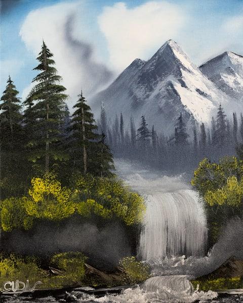 Misty Falls Photography Art   Cuda Nature Art