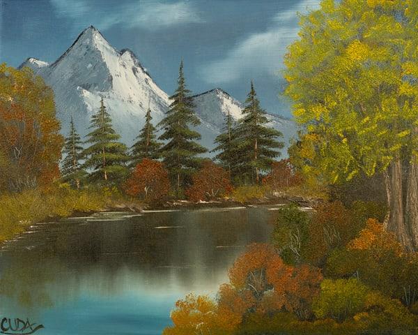 Autumn Lake Photography Art   Cuda Nature Art