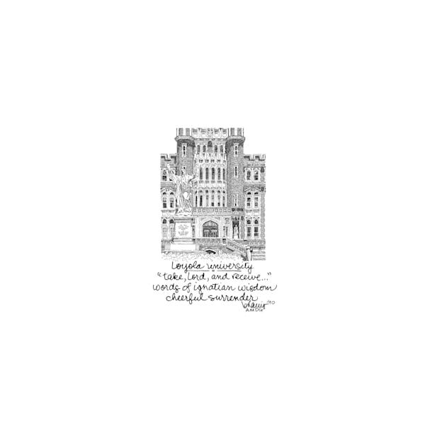 loyola university, new orleans:  tiny haiku art prints in elegant pen available for purchase online