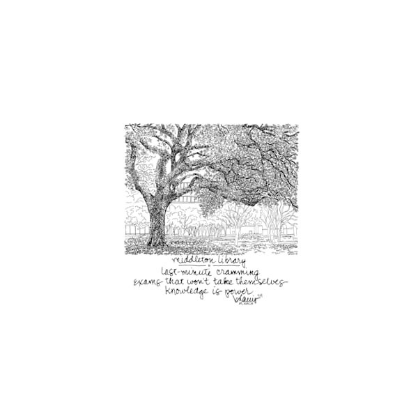 middleton library, louisiana state university:  tiny haiku art prints in cheerful watercolor available for purchase online
