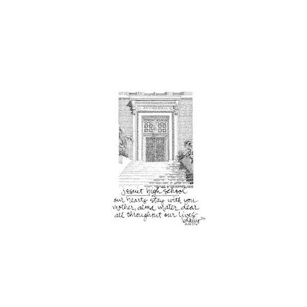 jesuit high school, new orleans:  tiny haiku art prints in elegant pen available for purchase online