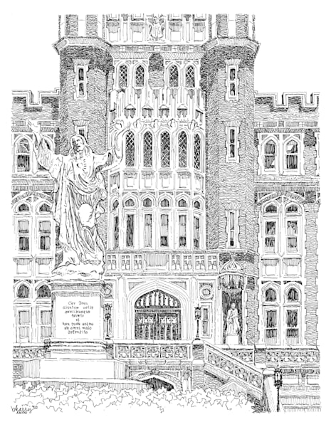 loyola university, new orleans:  fine art prints in elegant pen available for purchase online