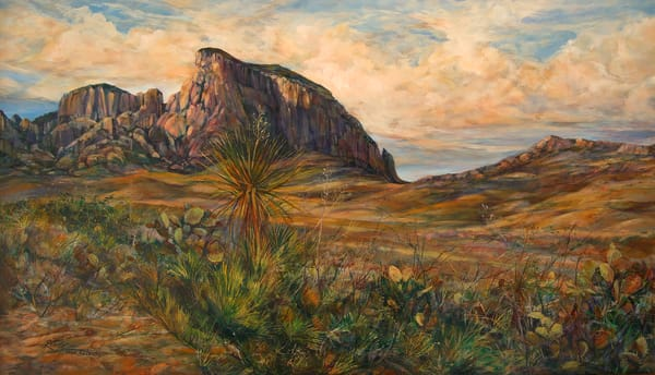 Lindy Cook Severns Art   Approach to the Chisos, print