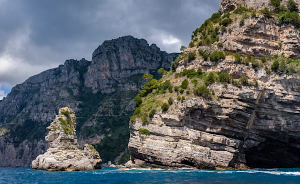 Rocky cliffs, Amalfi Coast, Italy