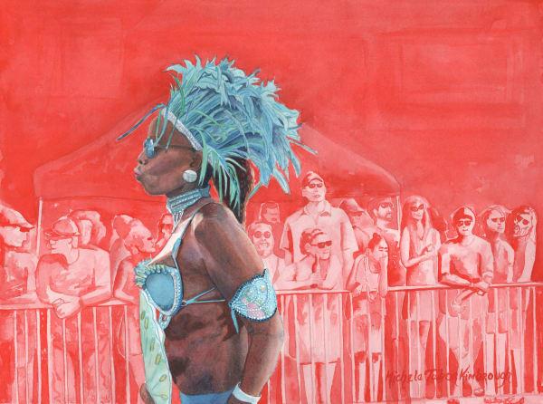 17. Mer Queen S Guardian Ii   Crucian Carnival Series Xvii Art | Michele Tabor Kimbrough