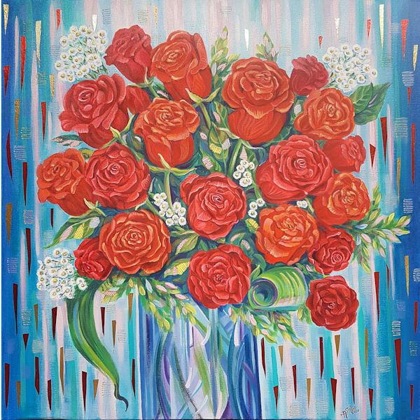 Love In Orange, Whyte, Red, Yellow / Gift Of Joy, Dream, Love , Hope (Red Panel)   Art | Art Impact® International Inc