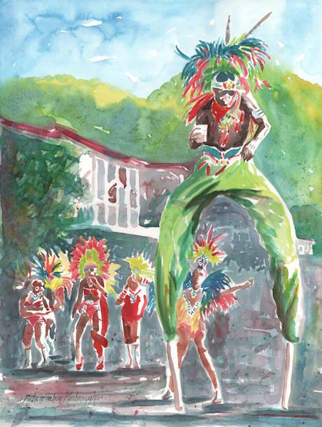 35. Crucian Carnival Series Xxxv Art   Michele Tabor Kimbrough