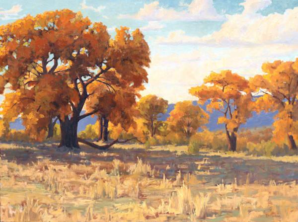 Autumn Cottonwoods Art   Diehl Fine Art