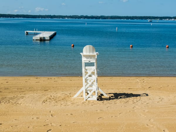 Riveria Beach Lifeguard Chair Photography Art   Lake LIfe Images