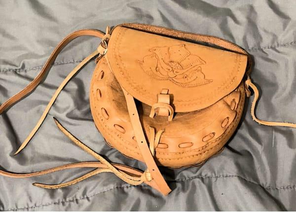 Leather Bag Art   Anonymous Art Studios