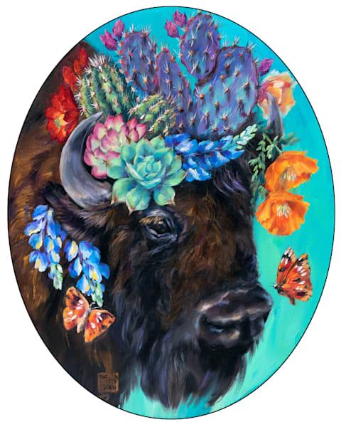 Cactus Critters: Buffalo Blooms Art | Ans Taylor Art