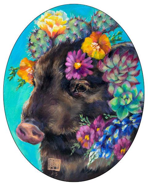 Cactus Critters: Heartbreak Javelina Art   Ans Taylor Art