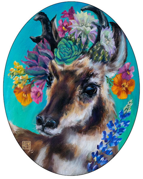 Cactus Critters: Pronghorn Prom Art   Ans Taylor Art