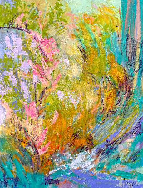 Pastel Original Abstract Painting
