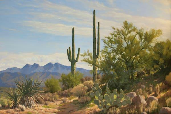 Desert Hillside Art   Diehl Fine Art