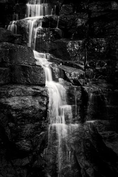 Waterfall Near Acadia Nation Park, Maine