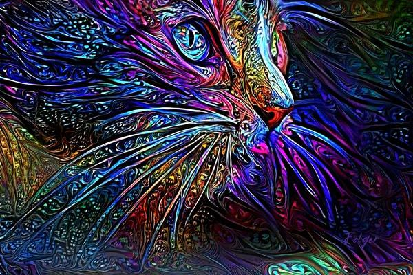 Feline Intricate Dream Art | Jacob Folger Artist