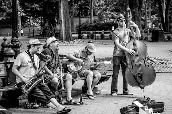 Making Music In Central Park Photography Art   Nick Levitin Photography