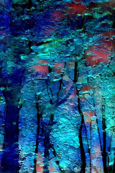 Cyan Forest Light Art | Jacob Folger Artist