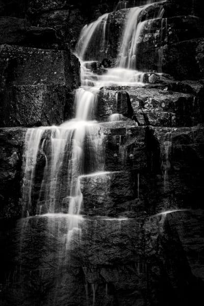 Waterfall, along road, Acadia National Park, Maine
