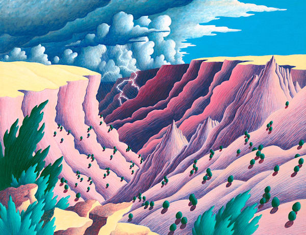 Storm In The Canyon Art   Fine Art New Mexico